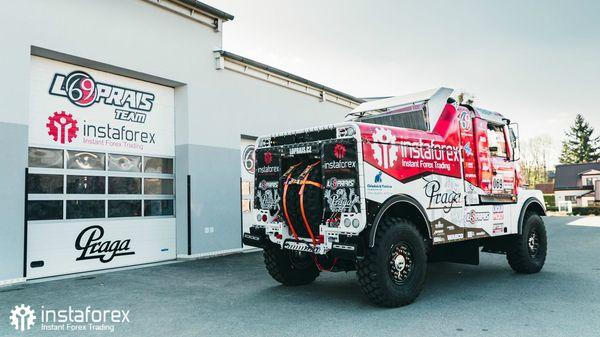 Tim Loprais InstaForex menguji Praga V4S DKR untuk Dakar 2020